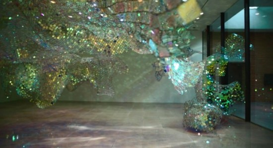 Soo Sunny Park's installation - Unwoven light