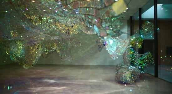 Soo Sunny Park's installation - Unwoven light