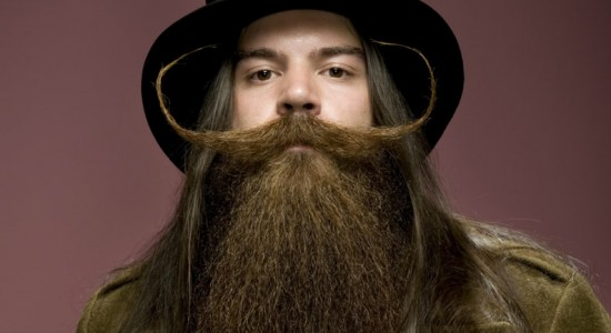 Extravagant beards and moustaches