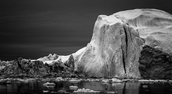 Ice on black by Jan Erik Waider