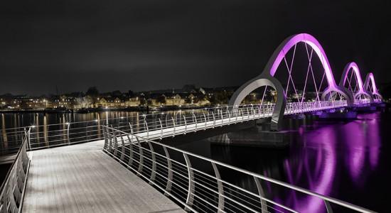 Sölvesborg's bridge in Sweden