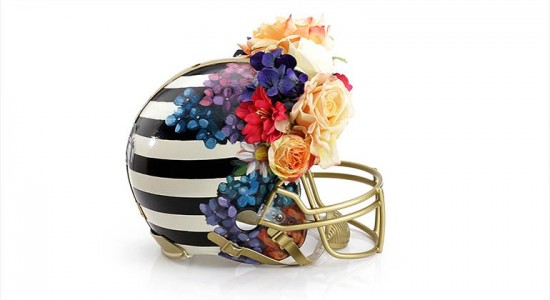 Haute couture Super Bowl helmets