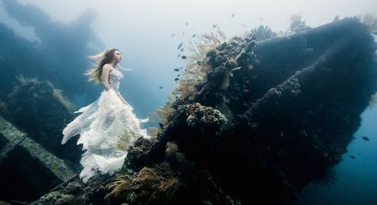Underwater photography in Bali